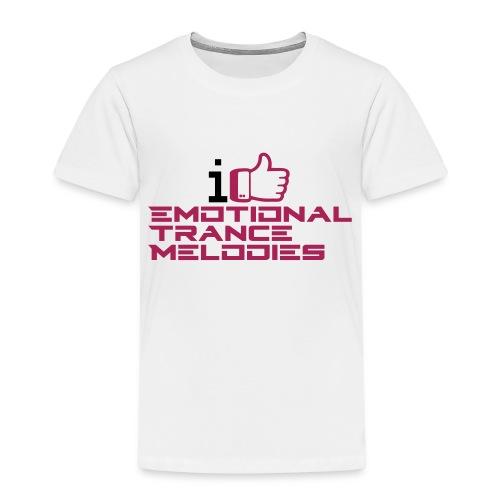 i like emotional trance melodies - Maglietta Premium per bambini