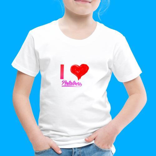 I Heart Potato T-Shirts - Kids' Premium T-Shirt