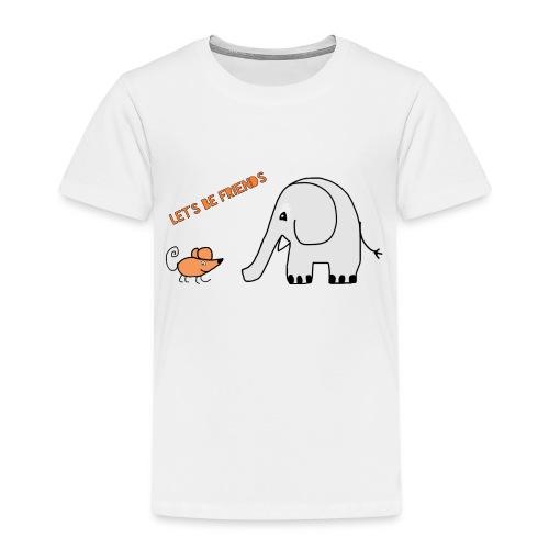 Elephant and mouse, friends - Kids' Premium T-Shirt
