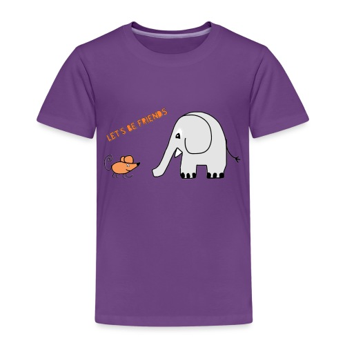 Elephant and mouse, friends - Kids' Premium T-Shirt