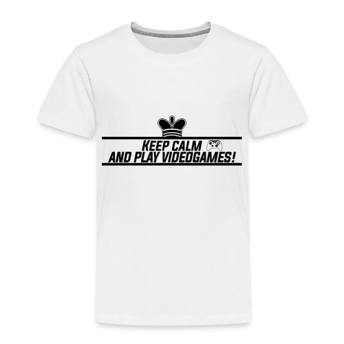 Keep calm and play videogames - Kids' Premium T-Shirt