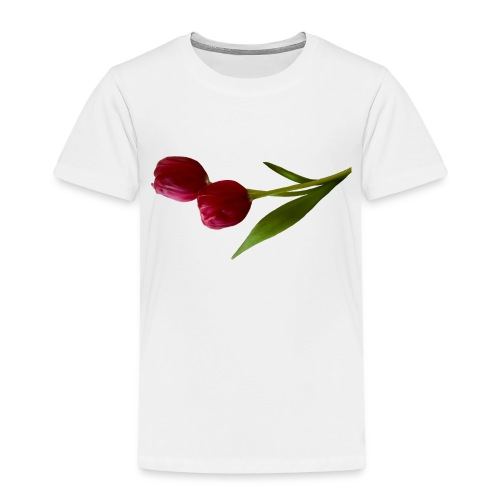 rote Tulpen - Kinder Premium T-Shirt