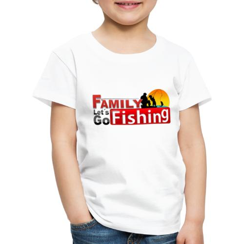 FAMILY LET´S GO FISHING FONDO - Camiseta premium niño