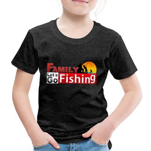 FAMILY LET´S GO FISHING FONDO - Camiseta premium niño