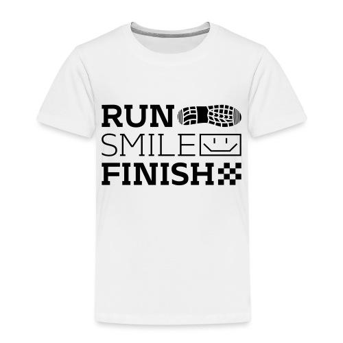 Run Smile Finish Marathon-Motto - Kinder Premium T-Shirt