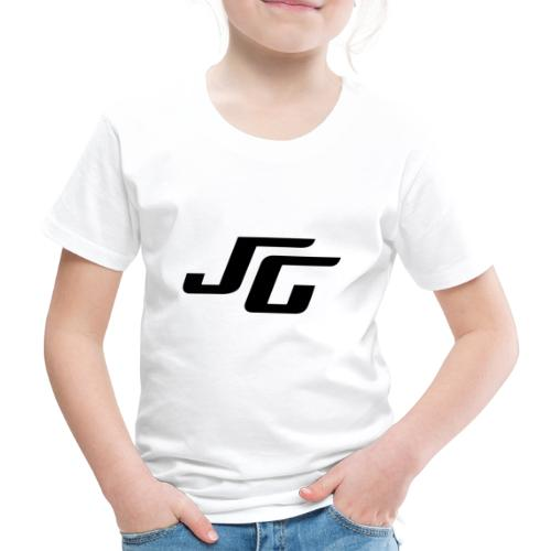 JG Logo schwarz - Kinder Premium T-Shirt