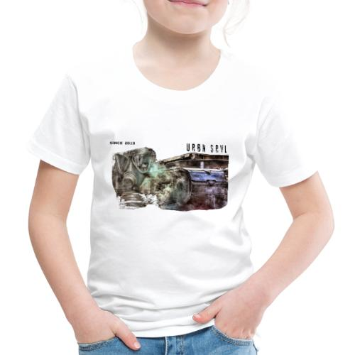 gas mask 2 black - Kinder Premium T-Shirt