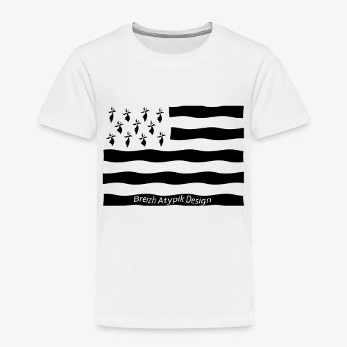 Gwenn ha Du-Noir fond transparent - T-shirt Premium Enfant