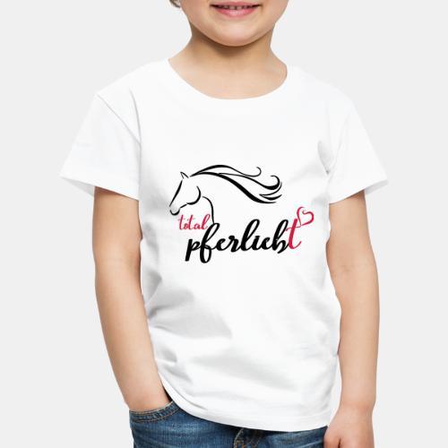 total pferliebt, Pferdeliebe - Kinder Premium T-Shirt