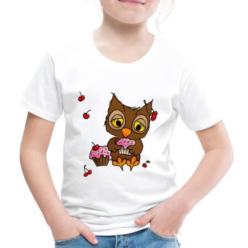 Eule mit Cupcakes - Kinder Premium T-Shirt