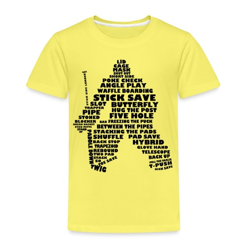 Language of Hockey (Goalie version, black print) - Kids' Premium T-Shirt