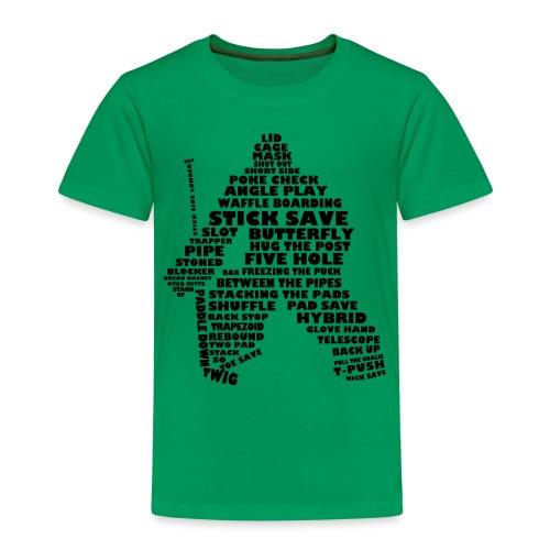 Language of Hockey (Goalie version, black print) - Kids' Premium T-Shirt