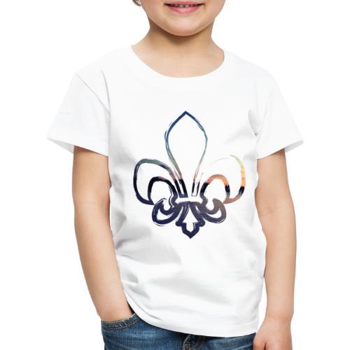 Lilie mit Sonnenuntergang - Kinder Premium T-Shirt