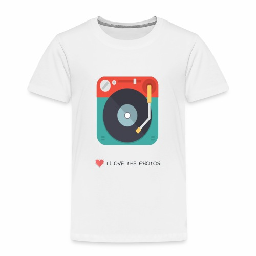 I LOVE THE PHOTOS - Camiseta premium niño