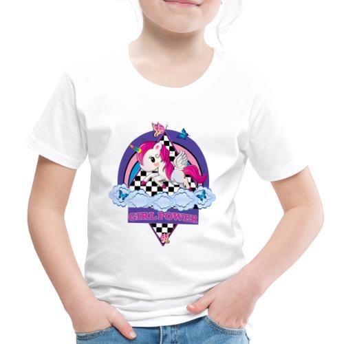 Einhorn mit Girl Power - Kinder Premium T-Shirt