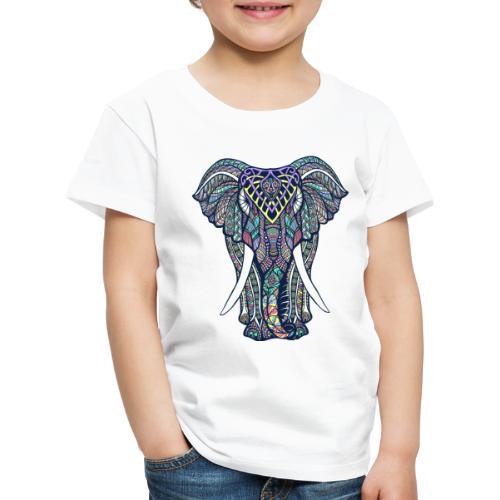 éléphant multicolore - T-shirt Premium Enfant