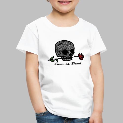 Love Is Dead Custom Skull Design - Kinderen Premium T-shirt