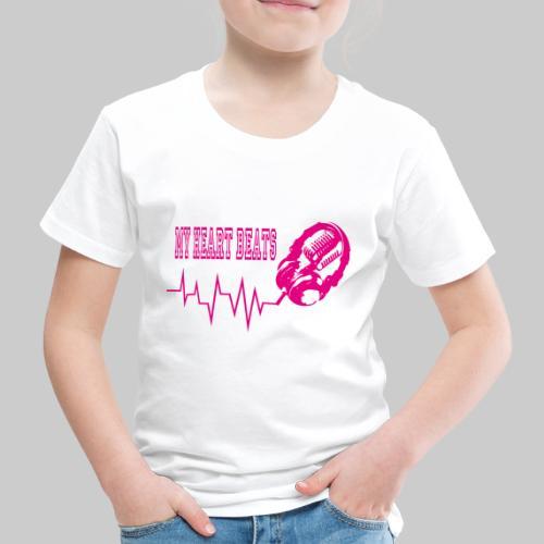 musicbeat_pink - Kids' Premium T-Shirt