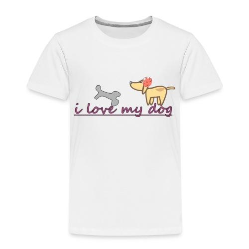 i love my dog - Camiseta premium niño