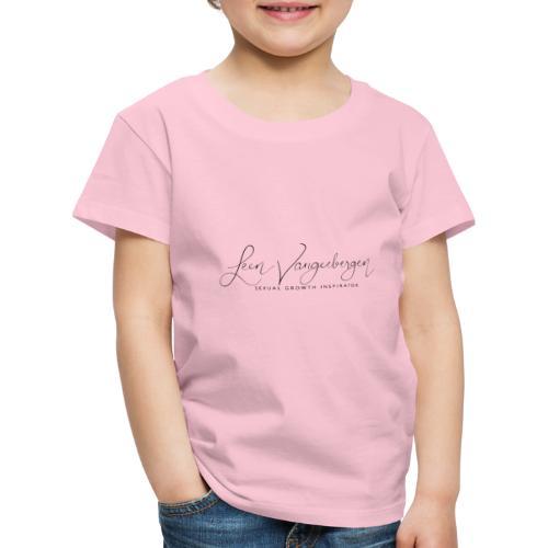 Leen Vangeebergen logo black - Kinderen Premium T-shirt