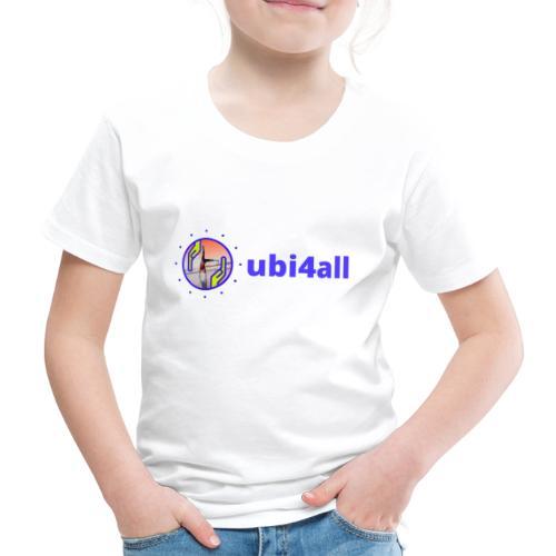 ubi4all mannetje horizontaal blauw trans - Kinderen Premium T-shirt