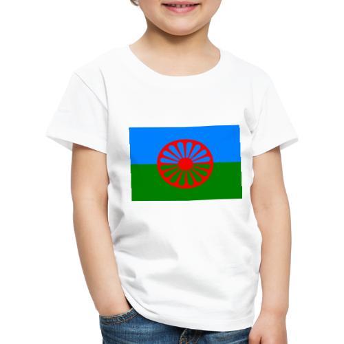 Flag of the Romani people - Premium-T-shirt barn