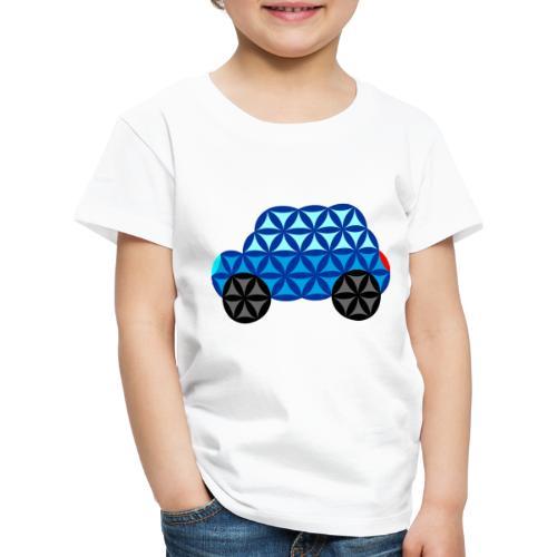 The Car Of Life - 01, Sacred Shapes, Blue. - Kids' Premium T-Shirt