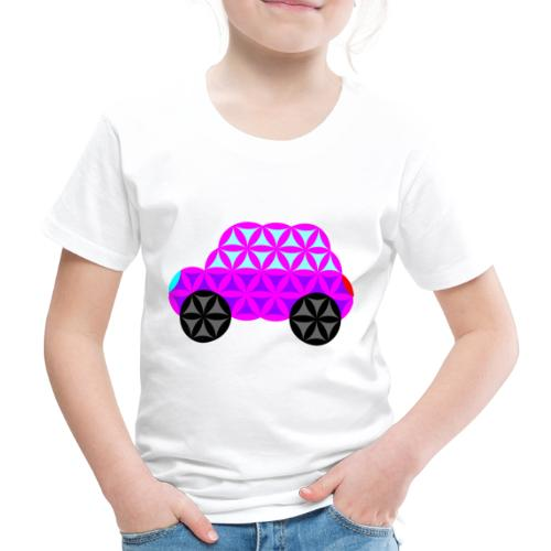 The Car Of Life - 01, Sacred Shapes, Purple. - Kids' Premium T-Shirt