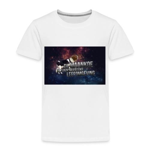 maankoe met agtergront - Kinderen Premium T-shirt