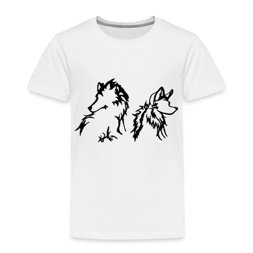 Two Wolves - Børne premium T-shirt