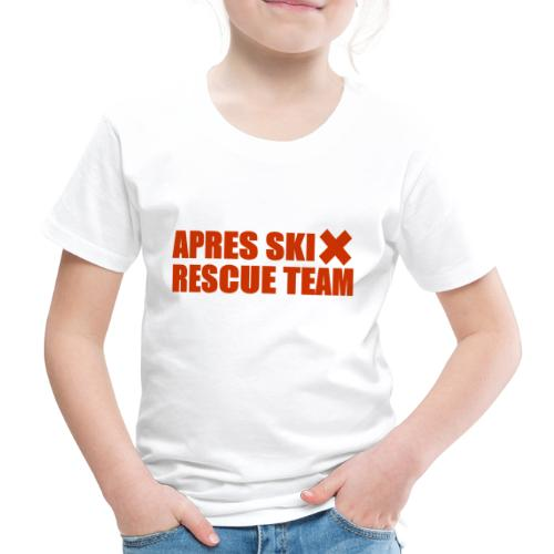 apres-ski rescue team - Kinderen Premium T-shirt