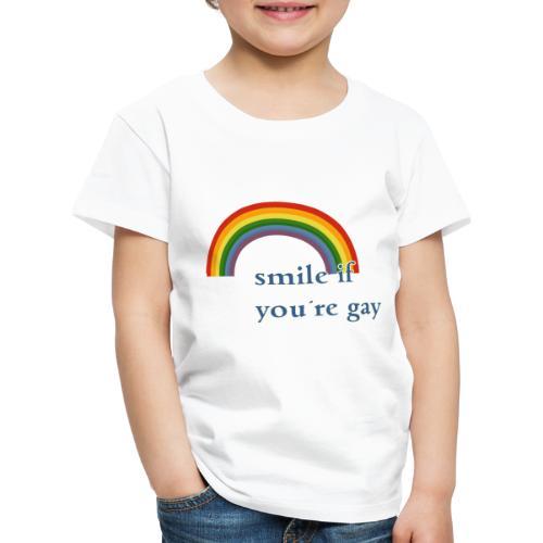 Lächle wenn du schwul bist | Vintage | LGBT |Pride - Kinder Premium T-Shirt