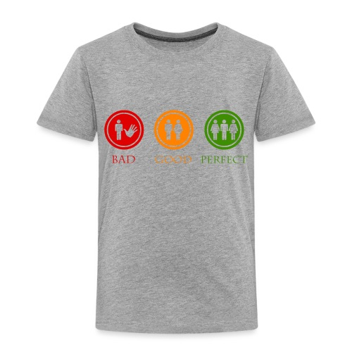 Bad good perfect - Threesome (adult humor) - Kinderen Premium T-shirt