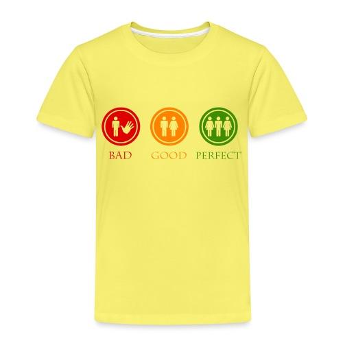 Bad good perfect - Threesome (adult humor) - Kinderen Premium T-shirt