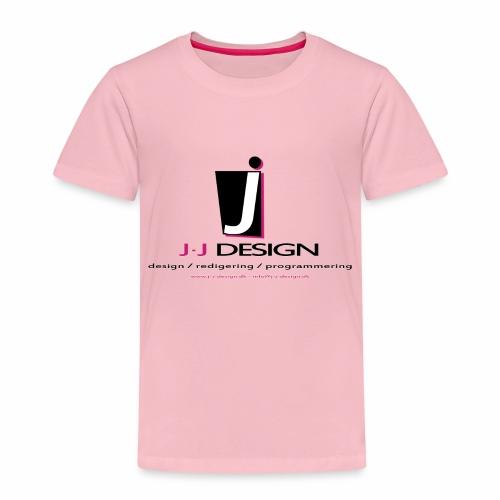 LOGO_J-J_DESIGN_FULL_for_ - Børne premium T-shirt