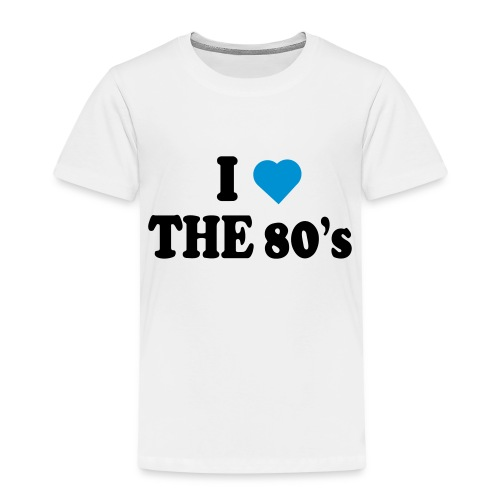 I love the 80's - Premium T-skjorte for barn