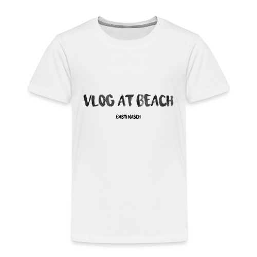 vlog at beach - Kinder Premium T-Shirt