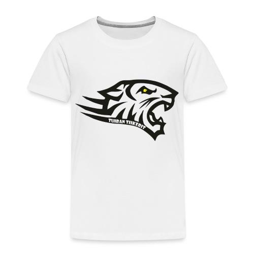 Tuiran Tiikerit tuoteperhe, pieni logo - Lasten premium t-paita