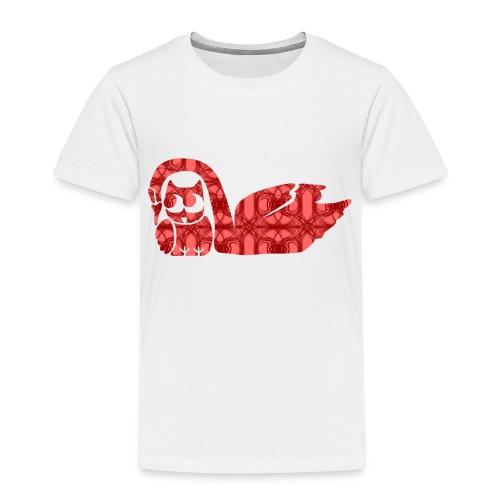 Liebespärchen Eule mit Schwan - Kinder Premium T-Shirt