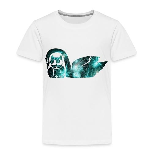 Schwan mit Eule - Kinder Premium T-Shirt