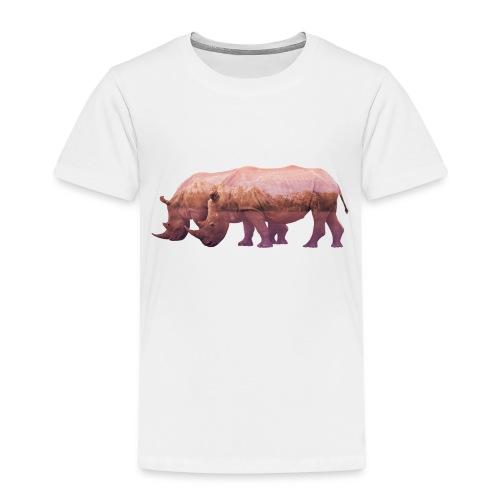 Nashorn Alpen - Kinder Premium T-Shirt