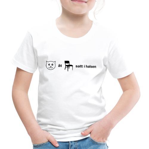 Katt åt stol - Premium-T-shirt barn