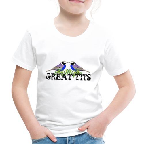Great tits - Børne premium T-shirt