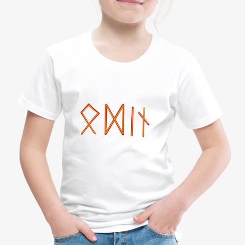 Odin in Runenschrift - Kinder Premium T-Shirt