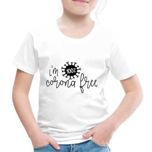 Ik ben coronavirus vrij. Stop de coronavirus - Kinderen Premium T-shirt
