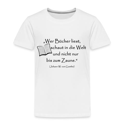Bücher lesen - Kinder Premium T-Shirt