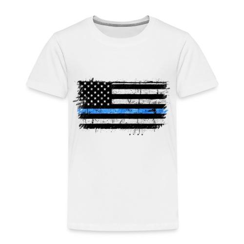 police back the blue flag - Camiseta premium niño