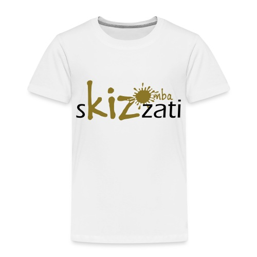 Beanie in jersey con logo sKizzati Kizomba - Verde - Maglietta Premium per bambini