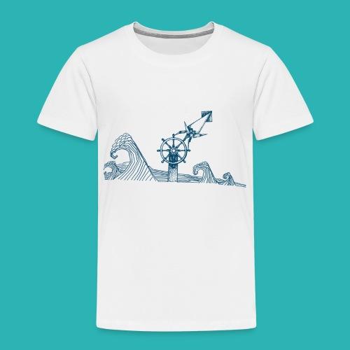 Carta_timone_blu-png - Maglietta Premium per bambini