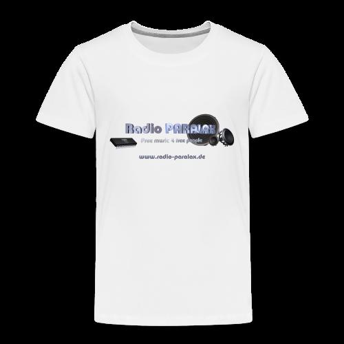 Radio PARALAX Facebook-Logo mit Webadresse - Kinder Premium T-Shirt
